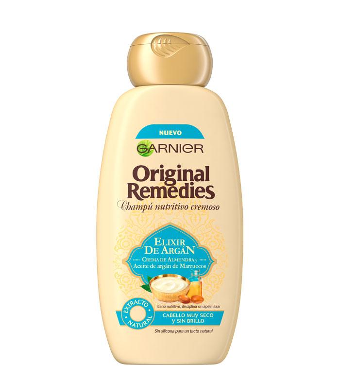comprar garnier - champú elixir de argán original remedies - cabello
