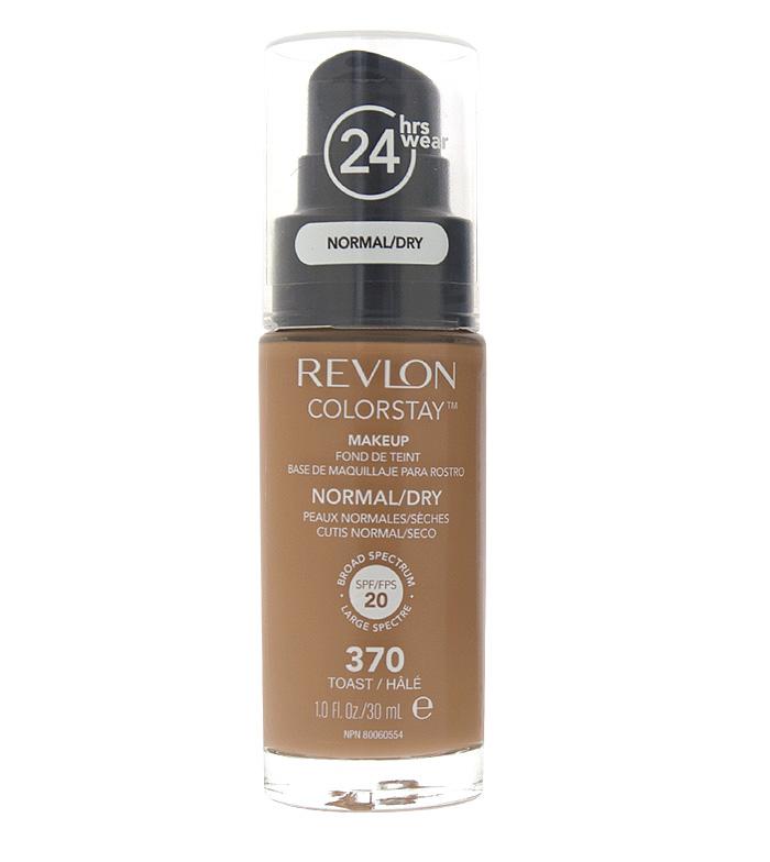 2b2878871 Revlon - Base de Maquillaje fluida ColorStay para piel Normal/Seca SPF20 -  370: