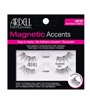 Ardell - Pestañas postizas Magnetic Accents - 001: Black