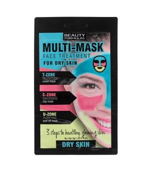 Beauty Formulas - Mascarilla Multi Mask Face Treatment - Piel Seca
