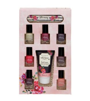 Body Collection - Set de esmaltes de uñas + crema de manos Vintage