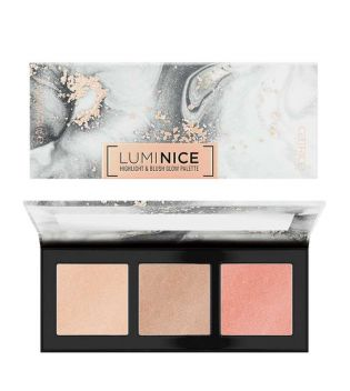 Catrice - Paleta de colorete e iluminadores Luminice - 010: Rose Vives Only