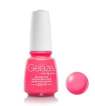 China Glaze - Esmalte de uñas en Gel y Capa Base Geláze - 81685: Shocking Pink
