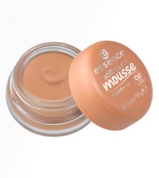 essence - maquillaje mousse soft touch - 02: matt beige