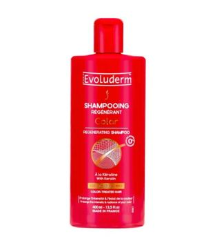 Evoluderm - Champú regenerador con keratina Color - 400ml