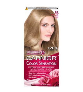 Garnier - Coloración Color Sensation - 8.1: Rubio Claro Ceniza