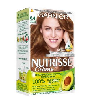 Garnier - Coloración Nutrisse - 6.41: Marrón Intenso