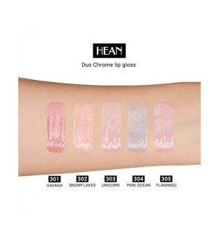 Hean - Brillo de labios Duo Chrome - 304: Pink Ocean