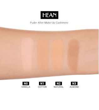 Hean - Polvos Compactos - After Makeup-up Cashmere Powder: N3 ALMOND