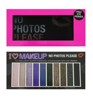I Heart Makeup - Paleta de sombras y Mini primer - No Photos Please