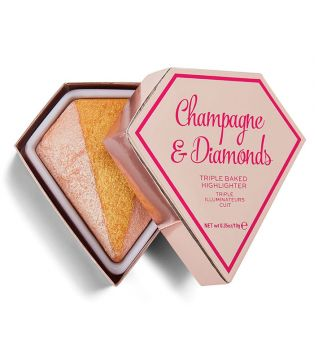 I Heart Revolution - Iluminador Triple Baked Diamond - Champagne & Diamonds