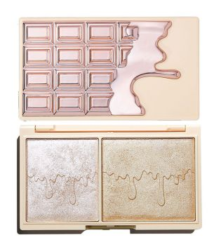 I Heart Revolution - Paleta de iluminadores Chocolate Mini - Rose Gold Glow