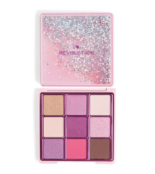 I Heart Revolution - Paleta de sombras Glitter Palette  - One True Love