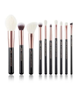 Jessup Beauty - Set de brochas 10 piezas - T163: Black/Rose Gold