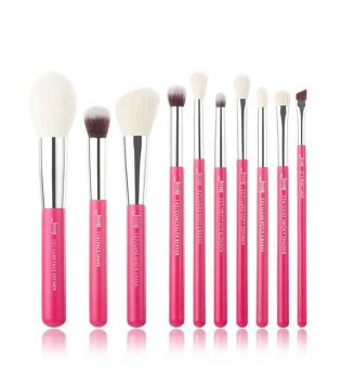 Jessup Beauty - Set de brochas 10 piezas - T203: Rose Carmin/Silver