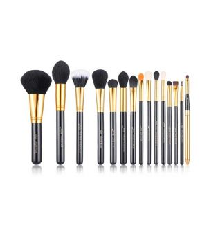 Jessup Beauty - Set de brochas 15 piezas - T093: Black/Gold