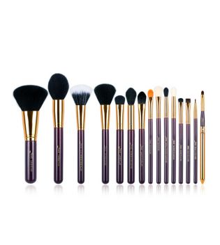 Jessup Beauty - Set de brochas 15 piezas - T095: Purple/Gold