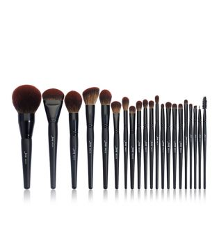 Jessup Beauty - Set de brochas 21 piezas Black Complete Collection - T271: Makeup Lover (Phantom Black)