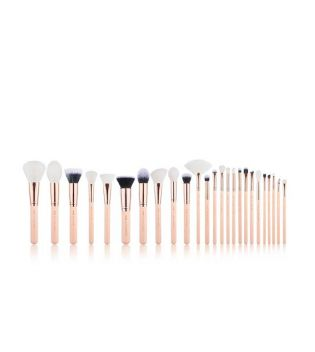 Jessup Beauty - Set de brochas 25 piezas - T441: Peach Puff/Rose Gold