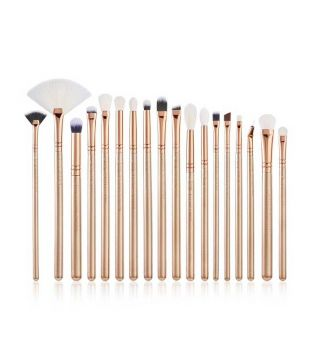 Jessup Beauty - Set de pinceles 18 piezas - T422: Golden/Rose Gold