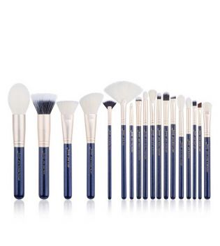 Jessup Beauty - Set de pinceles 18 piezas - T491: Prussian Blue / Golden Sands