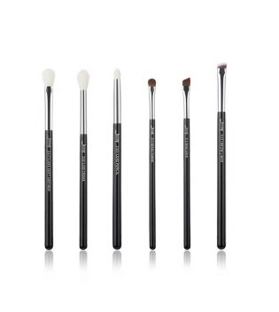 Jessup Beauty - Set de pinceles 6 piezas - T181: Black/Silver