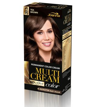 Joanna - Crema colorante para el cabello - 39.5 Tea Brown