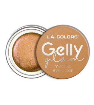 L.A Colors - Sombra de ojos en crema Gelly Glam Metallic - CES281 Queen Bee