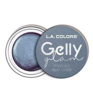 L.A Colors - Sombra de ojos en crema Gelly Glam Metallic - CES288 Blue Lightning