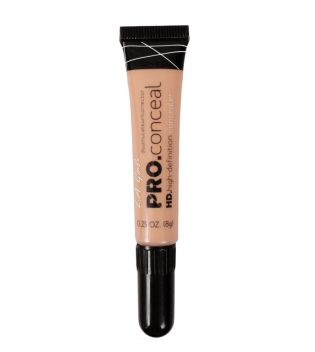 L.A. Girl - Corrector líquido Pro Concealer HD High-definition - GC972 Natural