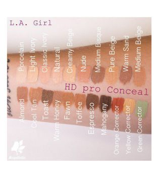 L.A. Girl - Corrector líquido Pro Concealer HD High-definition - GC983 Fawn