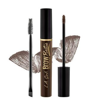 L.A. Girl - Gel para cejas Brow Bestie - GBG384: Dark Brown