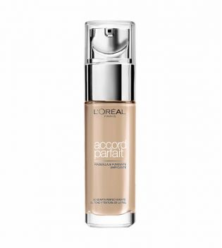 Loreal Paris - Maquillaje a medida Accord Parfait - 3D-3W: Golden Beige