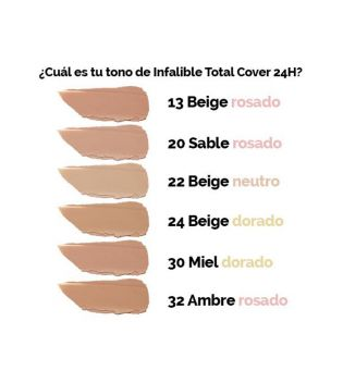 Loreal Paris - Base de maquillaje Infalible Total Cover - 13: Beige Rosé