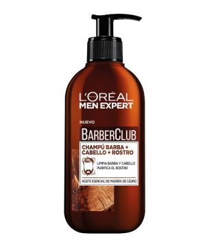 Loreal Paris - Champú 3 en 1: Barba + Cabello + Rostro Barber Club Men Expert