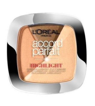 Loreal Paris - Iluminador en polvo Accord Perfect - 102D/W: Doré Golden Glow