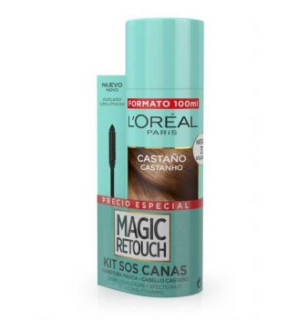 Loreal Paris - Kit Sos Canas Magic Retouch - Castaño