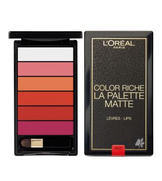 Loreal Paris - Paleta de labiales Color Riche Mate - Bold