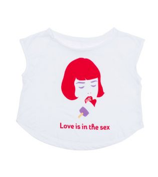 Lovelanders - Camiseta para mujer - Love is in the sex M/L