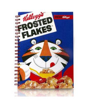 Mad Beauty - Cuadernos de notas Kellogg's Vintage 1970's A4 - Frosted Flakes