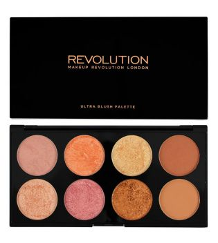 Makeup Revolution - Paleta de coloretes y contorno Ultra - Golden Sugar 2
