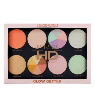 Makeup Revolution - Paleta de Iluminadores Pro HD Amplified  - Glow Getter