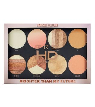 Makeup Revolution - Paleta de Iluminadores Pro HD Amplified  - Brighter Than my Future