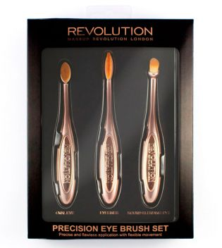 Makeup Revolution - Set de Brochas Precision Eye