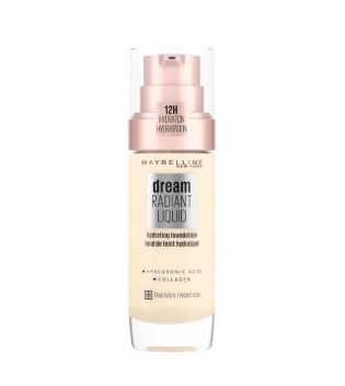 Maybelline - Base de maquillaje Dream Radiant Liquid - 03: True Ivory