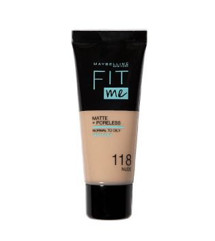 Maybelline - Base de Maquillaje Fit Me Matte + Poreless - 118: Light Beige