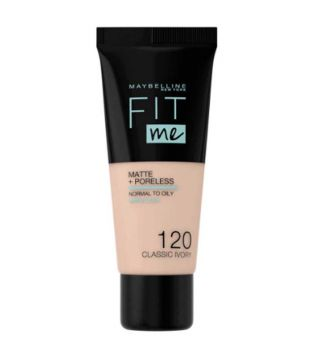 Maybelline - Base de Maquillaje Fit Me Matte + Poreless - 120: Classic Ivory