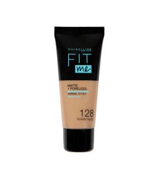 Maybelline - Base de Maquillaje Fit Me Matte + Poreless - 128: Warm Nude