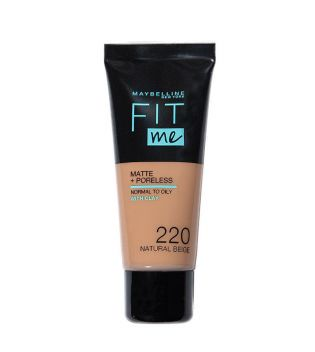 Maybelline - Base de Maquillaje Fit Me Matte + Poreless - 220: Natural Beige