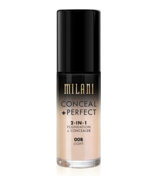 Milani - Base de maquillaje Conceal+Perfect 2-en-1 - 00B: Light